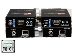 HDMI 3D, IR and RS232 Extender Set over Single CAT5/6