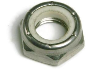 Stainless Steel Nylon Insert Jam Thin Lock Nut #4-40, Qty 100