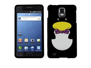 Samsung Infuse 4G I997 Hard Case Cover - Ben The Penguin 2D Silver Texture