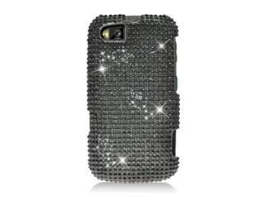 Motorola Admiral XT603 Hard Cover Case - Black With Full Rhinestones