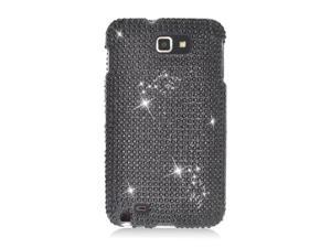 Samsung Galaxy Note N7000 I717 I9220 Hard Case Cover - Black w/ Full Rhinestones