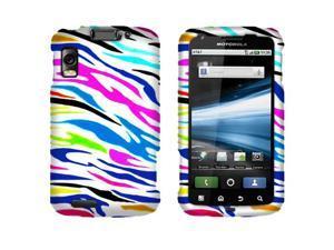 Motorola Olympus Atrix 4G MB860 Hard Case Cover - Colorful Zebra Texture