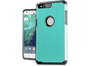 "Google Pixel XL 5.5"" HTC Protective Cover-Hybrid Teal Blue/ Black Astronoot"