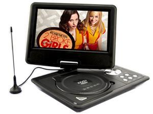 US 9.5'' Portable TFT LCD 16:9  Monitor 180° Swivel Screen DVD Player w/ Built-In USB SD Card Slot, Support AVI MPEG4 MP3 ...