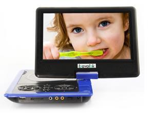 Ship from USA 7.5'' Portable 16:9 4:3 TFT LCD Monitor  270°  Swivel Screen DVD Player with USB SD Card Slot built-in Speaker ...