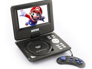 US 7.5'' Portable TFT LCD 16:9  Monitor 180° Swivel Screen DVD Player w/ Built-In USB SD Card Slot, Support AVI MPEG4 MP3 ...
