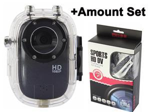 Ship From USA 140° H.264 HD 1080P 12M Sports Helmet Action Waterproof Mini DV Dash Car Camera+Waterproof Housing Shell+ Rechargeable ...
