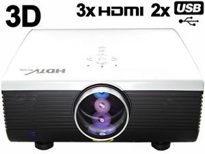 HD 1080P 30000 hours 2000 lumens LED 3D-Ready Home Theater Projector TV Mulimedia for PS3 XBOX Film KTV with HDMI*3 USB*2 ...