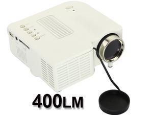 Portable Mini Projector Home Entertainment Cinema Movie Video Games Kid VGA USB SD AV HDMI_White
