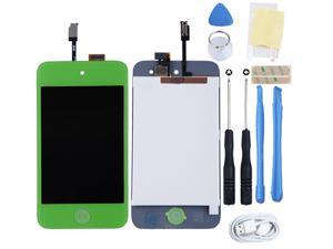 For IPod 4th Gen Glass Touch Screen LCD Assembly with Home button Replacement Kit_Green