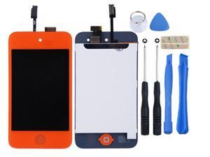 For IPod 4th Gen Glass Touch Screen LCD Assembly with Home button Replacement Kit_Orange