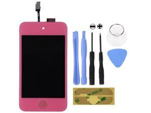 For IPod 4th Gen Glass Touch Screen LCD Assembly with Home button Replacement Kit_Pink