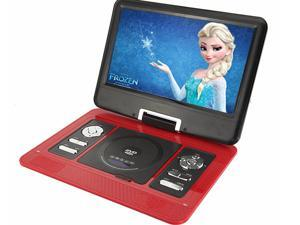 Bravolink 13.3 inch TFT LCD Handheld Portable DVD Player Audio Video VCD CD Photo Game MP3 MP4_Red