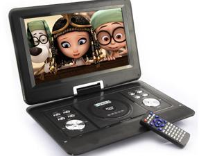 Bravolink 14'' inch Handheld Portable DVD Player Game USB SD SWIVEL & Flip VAG LCD Screen_Black