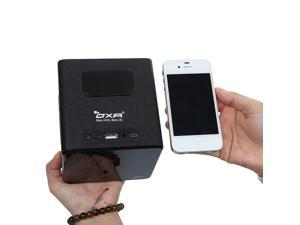 OXA NFC Bluetooth Mini Fashion Portable Natural Wood Design Wireless Stereo Speaker FM Radio , Black