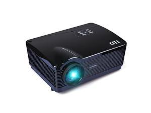 Bravolink 1080P 3*HDMI Native 1280*768 3000 lumens USB LED Multimedia HD Projector for Home Theater - Black