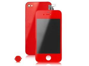 New From USA Red iPhone 4S LCD Touch Screen Glass Assembly + Back Battery Cover + Home Button