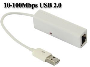 10-100Mbps USB 2.0 Fast Ethernet Network Adapter Cable for Windows, Mac, Chromebook, Linux, and Specific Android Tablets