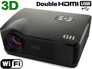 Brand New Android 4.2 WIFI 3D 2000:1 1080P 2*HDMI/2*USB Native 1280*768 3000 lumens LED Multimedia HD Projector for Home ...