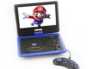 Ship frome US 9.5'' Portable 16:9 180° Rotating Swivel Screen CD VCD DVD Player + Built-in stereo speakers (958)- Blue