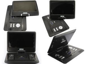 New 13.3 inch Shockproof Portable DVD VCD CD MP3 MP4 Player + Analog TV (1389)_Black