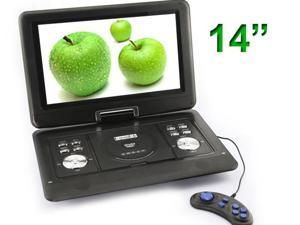 14-Inch Handheld Portable DVD Player, Swivel Screen, USB/SD Card Reader