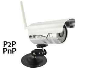 WIRELESS WIFI IP Camera Outdoor 36 IR Led Night Vision P2P SECURITY CCTV WATERPROOF CAM,Plug and Play_Silver