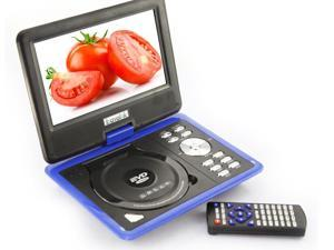 9.5 inch Rotating Swivel 180° Handheld Portable DVD VCD CD MP3 MP4 Player Blue