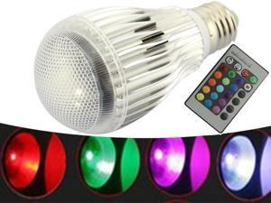 E27 10W Color Changing Dimmable LED Light Bulb RGB Color Lamp 86-265V+IR Remote Control