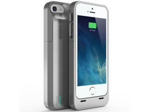 uNu Power DX External Protective Battery Case for iPhone 5S / iPhone 5 - MFI Apple Certified - Sliver