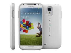 uNu Aero Series Samsung Galaxy S4 Battery Case with Wireless Charging Technology - White/Silver