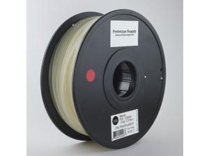 Prototype Supply PLA 3D Printing Filament 3mm Natural 1kg/roll (2.2 pounds)