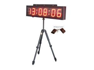 "6"" LED Race Timing Clock LED Sports Clock for outdoor running race HH:MM:SS"