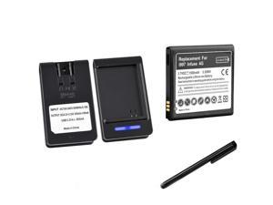 NEW BATTERY+AC HOME WALL CHARGER +Black Stylus FOR Samsung Infuse SGH-i997 4G