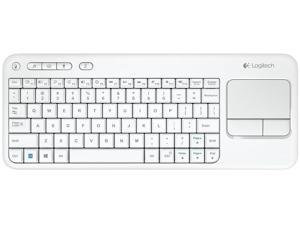 N Logitech K400 WHITE Wireless Touch Keyboard K400r Built-In Touchpad