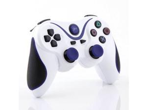 Wireless Gamepad Bluetooth Controller for Sony Playstation 3 PS3 White Blue NEW