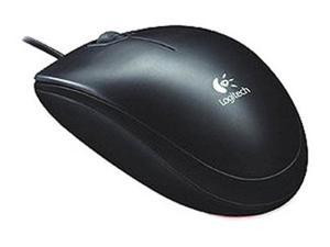 Logitech B120 Black 3 Buttons Tilt Wheel USB or PS/2 Wired Optical Mouse