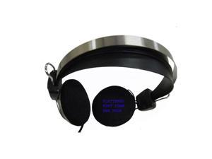 New Frisby Headphone Ear-Pad Headset for Computer PC Desktop Notebook Laptop with Microphone Silver/Black