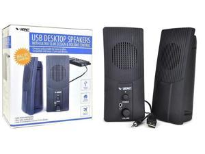 VIBE Ultra Slim 2-Piece 2-Channel USB Powered Multimedia Speaker Set w/3.5mm-NEW