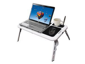 New Laptop USB Folding Table w/2 Cooling Fan+Mouse Pad!
