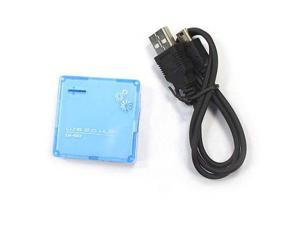 New Fashionable High Speed 4 Port USB 2.0/1.1 Hub for PC Blue