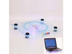 """New USB 828 Big-Fan Light Cooling Pad for Laptop Notebook 14.1"""" to 15.4"""" Blue"""