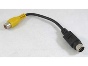 S-Video 7-Pin TV to RCA AV Adapter Converter Cable 3""