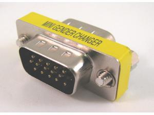 15 HD/DB/15 VGA/SVGA KVM Gender Changer Adapter Male to Male M-M