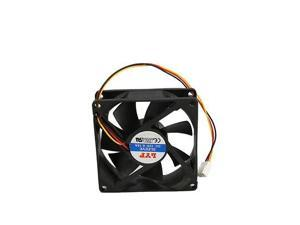 New 80mm Chassis Crystal Cooler Fan Host 3Pins Computer PC Case Cooling Black