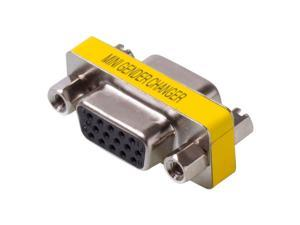 VGA SVGA 15 Pin Female To Female Plug Coupler Gender Changer Adapter Converter