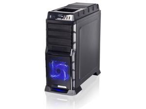New Black ATX Mid Tower Front LED Fan Gaming PC Screwless Hot-Swap Computer Case