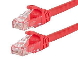 RED 100 FEET CAT6 CAT 6 RJ45 ETHERNET NETWORK CABLE 550Mhz Gigabit Switch 100 FT