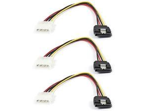 3x SATA Serial ATA 15pin Female to Molex 4pin Male HDD Drive Power Adapter Cable