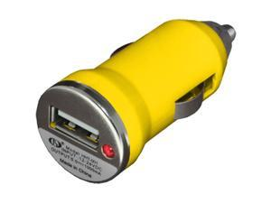 NEW Slim USB Vehicle Power Adapter VPA Universal Car Charger - Yellow